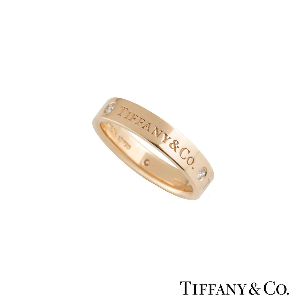Tiffany & Co. Rose Gold and Diamond Band Ring